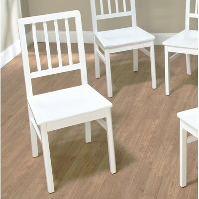 Carolina Solid Wood Dining Chair Finish: White Finish