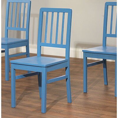 Carolina Solid Wood Dining Chair Finish: Blue