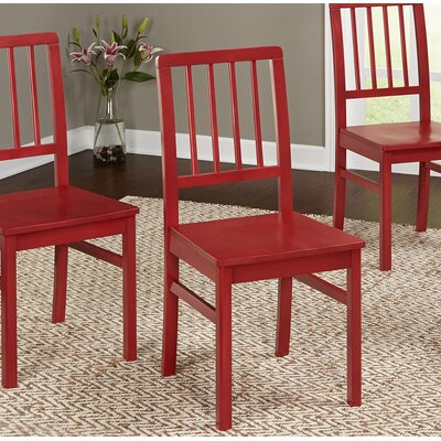 Carolina Solid Wood Dining Chair Finish: Red
