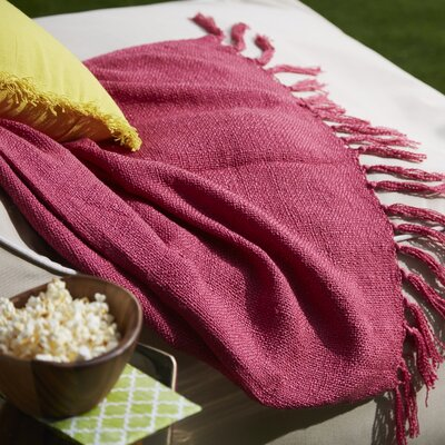 Euharlee Throw Blanket Color: Magenta