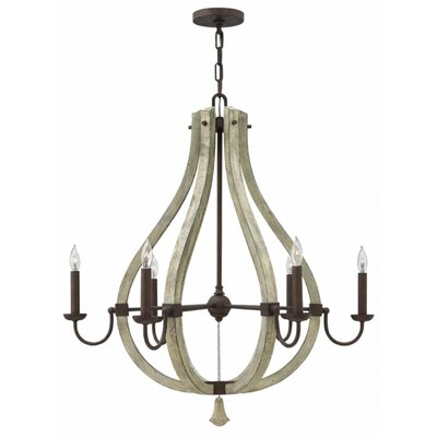 Oceane 6-Light 60W Candle-Style Chandelier