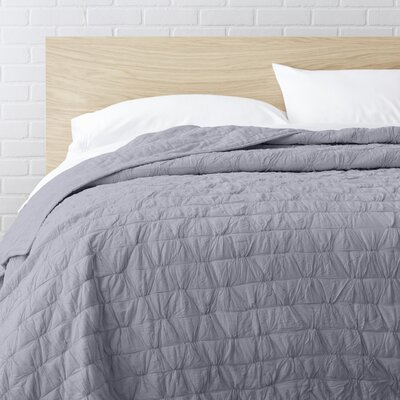 100% Cotton Quilt Size: Twin, Color: Gray