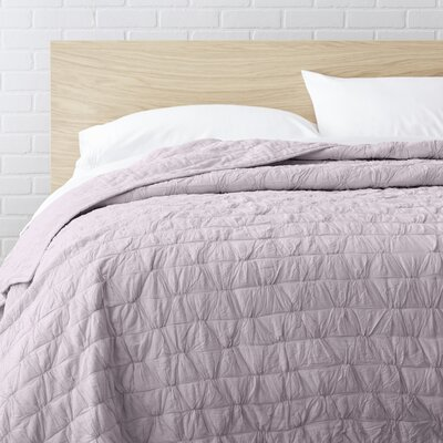 100% Cotton Quilt Size: Full / Queen, Color: Pink
