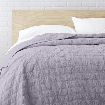 100% Cotton Quilt Size: Full / Queen, Color: Light Pink