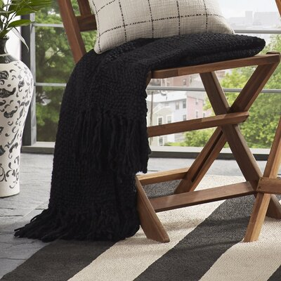 Roopville Throw Blanket Color: Black