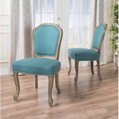 Ouellet Dining Chair Upholstery: Dark Teal