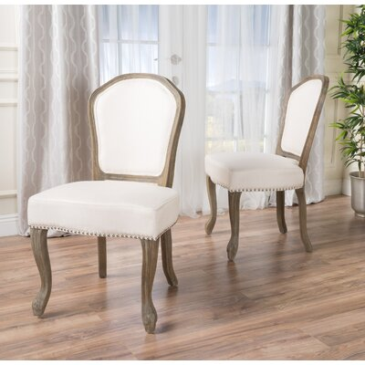 Ouellet Dining Chair Upholstery: Beige