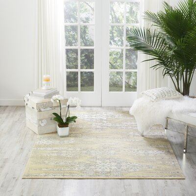 Bourgault Bone Area Rug Rug Size: Rectangle 76 x 106