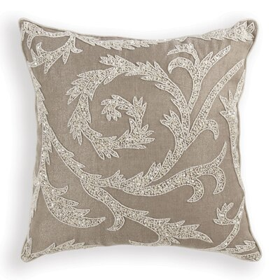 Buckley Sequin Throw Pillow Color: Taupe