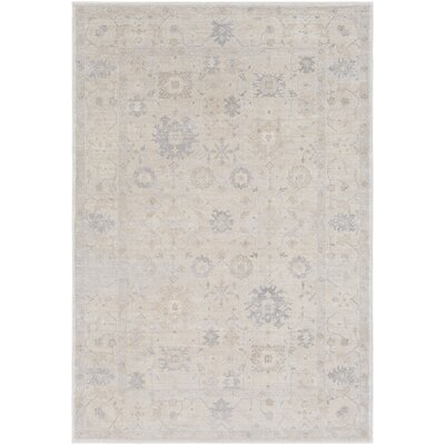 Capri Taupe/Medium Gray Area Rug Rug Size: 2 x 3