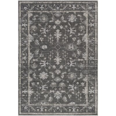 Capri Medium Gray/Charcoal Area Rug Rug Size: Rectangle 5 x 76