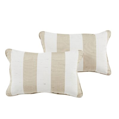 Sienna Indoor/Outdoor Sunbrella Lumbar Pillow Color: Beige/White