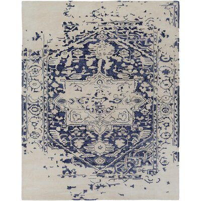 Pearl Hand-Tufted Blue/Beige Area Rug Rug Size: Rectangle 8 x 10