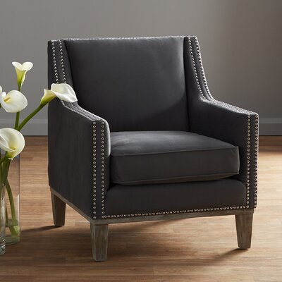 Bergerac Arm Chair Upholstery: Charcoal