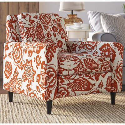 Madeline Arm Chair Color: Tangerine