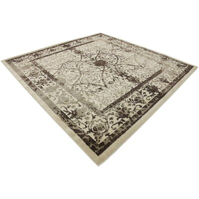 Rayden Beige/Brown Area Rug Rug Size: Square 8