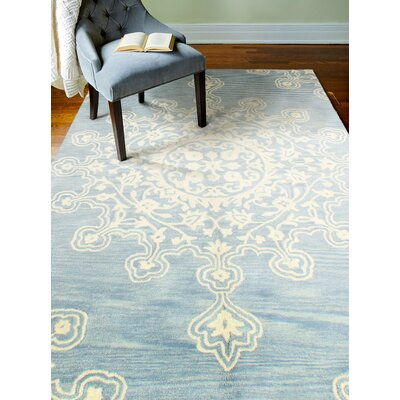 Scotland Hand-Tufted Light Blue Area Rug Rug Size: 86 x 116