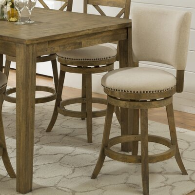 Forteau 24 Swivel Round Bar Stool (Set of 2)
