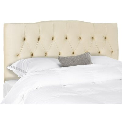 Ellecourt Queen Upholstered Panel Headboard Upholstery: Buckwheat