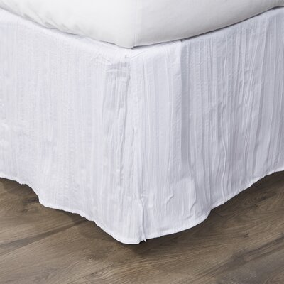 Elise Bed Skirt Size: King, Color: White