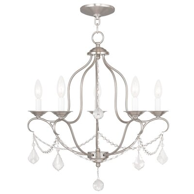 Kendrick 5-Light Candle-Style Chandelier Finish: Brushed Nickel
