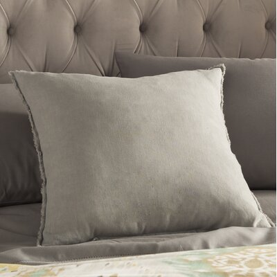 Levasseur Linen Throw Pillow Color: Blue/Gray