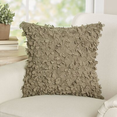 Floret Beaded Throw Pillow