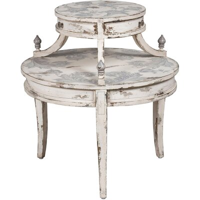 Edwina Round Tiered End Table