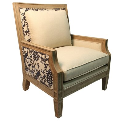 Marigold Linen Armchair Body Fabric: NOTION CREMEPUFF