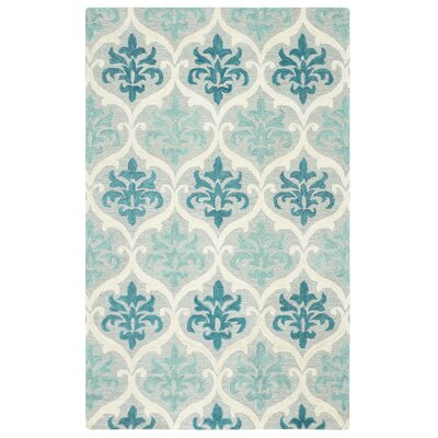 Francois Hand-Tufted Blue/Aqua Area Rug Rug Size: Rectangle 9 x 12