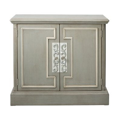 Blue Overlay 2 Door Accent Cabinet