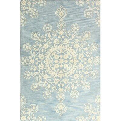 Scotland Hand-Tufted Light Blue Area Rug Rug Size: 76 x 96