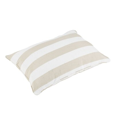 Elston Stripe Piped Indoor/Outdoor Sunbrella Floor Pillow