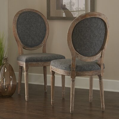 Renne Alkasen Side Chair Upholstery: Charcoal