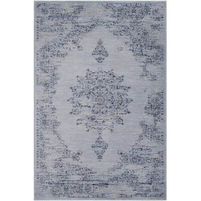 Blue Hill Vintage Blue/Navy Area Rug Rug Size: Rectangle 5 3 x 7 6