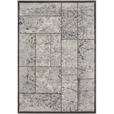 Blue Hill Vintage Gray Area Rug Rug Size: Rectangle 5 3 x 7 6
