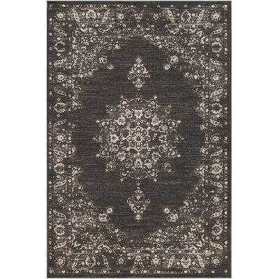 Blue Hill Vintage Dark Brown/Beige Area Rug Rug Size: Rectangle 5 3 x 7 6