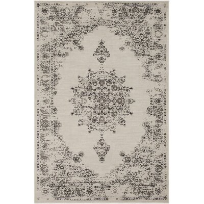 Blue Hill Vintage Ivory/Dark Brown Area Rug Rug Size: Rectangle 5 3 x 7 6