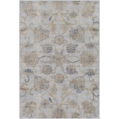 Blue Hill Gray Area Rug Rug Size: Rectangle 5 3 x 7 6