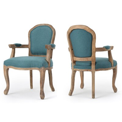 Kaufman Fabric Armchair Color: Dark Teal