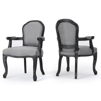 Kaufman Fabric Armchair Color: Gray