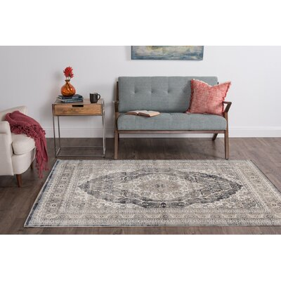 Bryker Woods Gray Area Rug Rug Size: 5'3'' x 7'3''