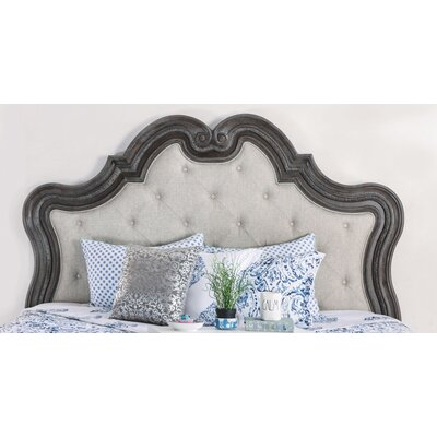 Portsmouth Traditional Upholstered Panel Headboard Size: King
