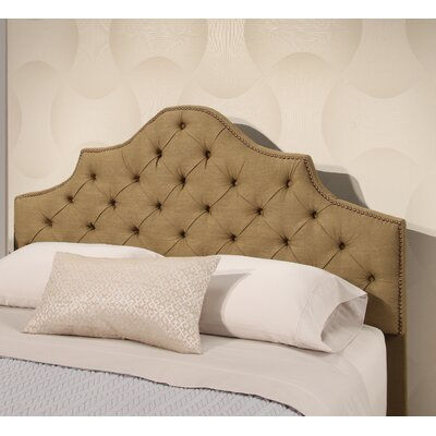 Lakeville Tufted Linen Panel Headboard Upholstery: Olive