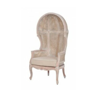 Winslow King Rattan Balloon Chair Finish: White Wash