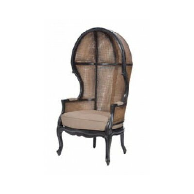 Winslow King Rattan Balloon Chair Finish: Boir of Black / Woodlands Stain