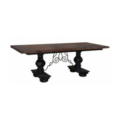 Bridgehampton Pedestal Dining Table Finish: Vintage Black/Rustic Old Wood Stain/Rustic Black