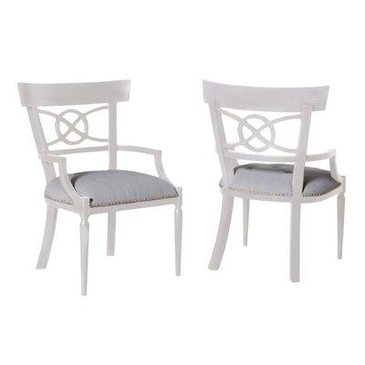 Haldor Arm Chair Finish: White Wood Grain