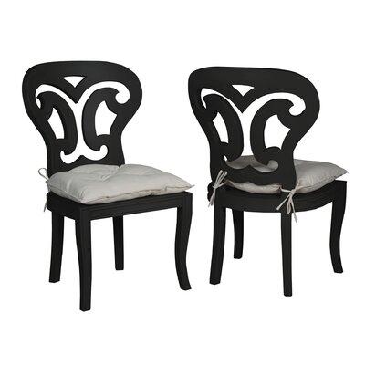 Vinalhaven Side Chair Finish: Black Wood Grain