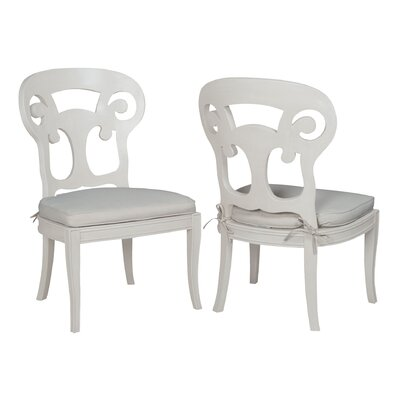 Emerson Side Chair Finish: White Wood Grain